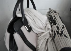 smal handbag, umbrella and pashmina