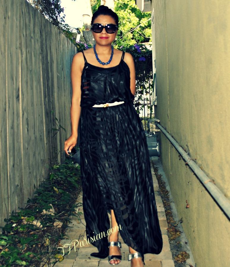 blog long sheer black dress and black and white pants 009