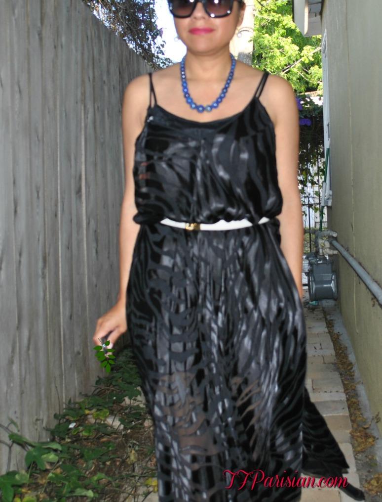 ebay  black dress and black and white pants 012