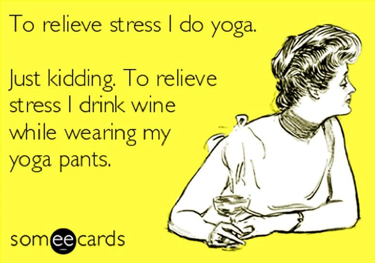 Wine vs yoga