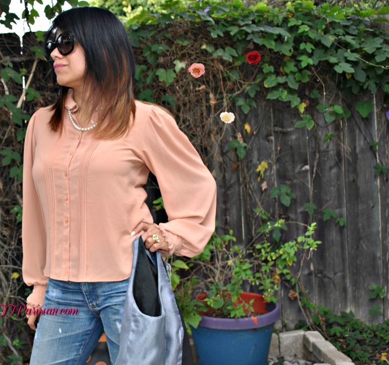 -peach blouse 074