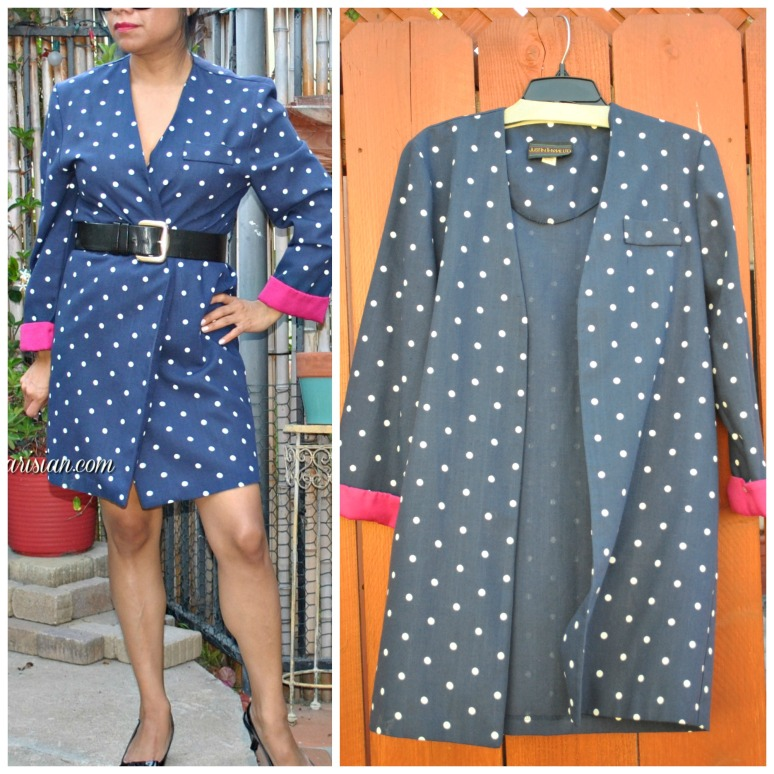 polka dot coat Collage - Copy