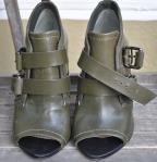 vintage handbag and shoe green041