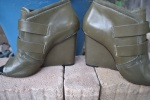 vintage handbag and shoe green053