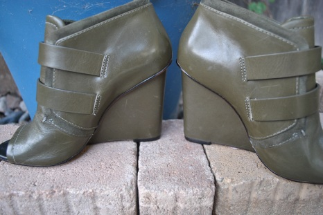 vintage handbag and shoe green 053